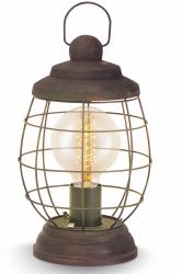 EGLO BAMPTON 49288 LAMPA STOŁOWA NOCNA DREWNIANA VINTAGE DRUCIANA