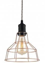 MIEDZIANA LAMPA WISZĄCA VINTAGE ITALUX PERIFO MDM-2264/1 BK+COP