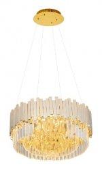 LAMPA WISZĄCA GLAMOUR ZŁOTY ŻYRANDOL KRYSZTAŁOWY MAXLIGHT TREND P0368