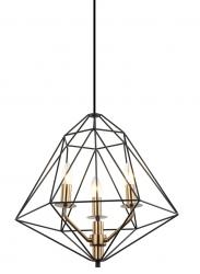 LAMPA WISZĄCA LOFT ITALUX MARESMO PEN-6369-3-BKBR CZARNA