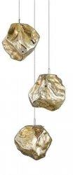 LAMPA WISZĄCA ROCK ZUMA LINE P0488-03A-B5HF ZŁOTA NOWOCZESNA