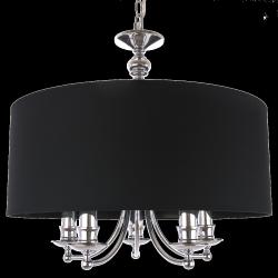 LAMPA WISZACA GLAMOUR ABU DHABI P05697BK COSMO LIGHT STYLOWY ŻYRANDOL Z CZARNYM ABAŻUREM