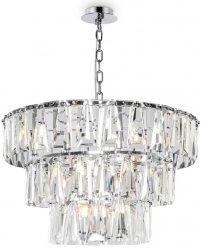KRYSZTAŁOWA LAMPA WISZĄCA CHROM PUNTES MAYTONI MOD043PL-18CH CHROMOWANY ŻYRANDOL KRYSZTAŁOWY GLAMOUR