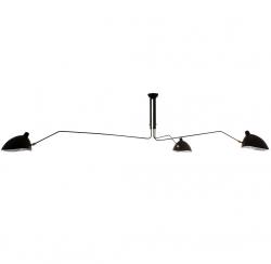 DESIGNERSKA LAMPA SUFITOWA ITALUX DAVIS 3 MDE610-3 CZARNA DO SALONU