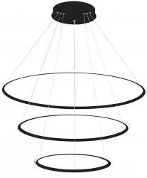 OKRĄGŁA LAMPA WISZĄCA KOŁA MILAGRO ML3853 ORION EXTERNO BLACK 99W LED CZARNA BARWA CIEPŁA 3000K
