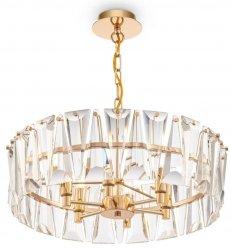 ZŁOTA KRYSZTAŁOWA LAMPA WISZĄCA PUNTES MAYTONI MOD043PL-06G ZŁOTY ŻYRANDOL KRYSZTAŁOWY GLAMOUR