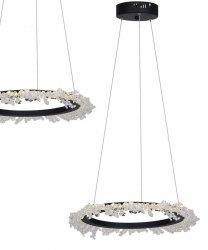 NOWOCZESNA KRYSZTAŁOWA LAMPA WISZĄCA MILAGRO FROZEN 30W LED