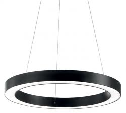 CZARNA LAMPA WISZĄCA OKRĄG IDEAL LUX ORACLE ROUND D50 NERO 222097 NOWOCZESNA CZARNA RING LED