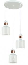 NOWOCZESNA LAMPA WISZĄCA ITALUX  RESTENZA PND-2439-3-WH