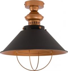 PLAFON  LAMPA SUFITOWA GARRET 9247 CZARNY ZŁOTY NOWODVORSKI