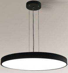 NOWOCZESNA CZARNA LAMPA WISZĄCA KOŁO LED SHILO NUNGO 6010