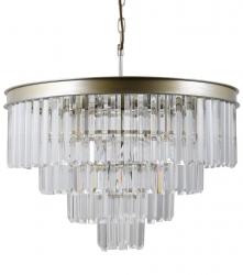 KRYSZTAŁOWA LAMPA WISZĄCA ITALUX VERDES PND-44372-8-CHMP-GLD ŻYRANDOL KRYSZTAŁOWY