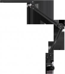 LAMPA BIURKOWA LED 5,6W KREŚLARSKA PRZYKRĘCANA DO BLATU RABALUX RAUL 4419 CZARNA