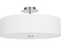 LAMPA SUFITOWA PLAFON NOWODVORSKI VIVIANE WHITE 6391 BIAŁY ABAŻUR