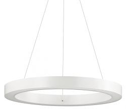 BIAŁA LAMPA WISZĄCA OKRĄG IDEAL LUX ORACLE ROUND D50 BIANCO 211404 NOWOCZESNA BIAŁA RING LED