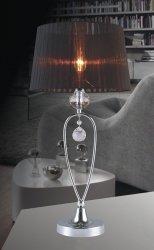 LAMPA NOCNA ITALUX VIVIEN MTM1637-1 CZARNA NOWOCZESNA