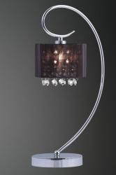 ITALUX SPAN MTM1583/1 BK CZARNA LAMPKA NOCNA / STOŁOWA Z ABZUREM CHROM