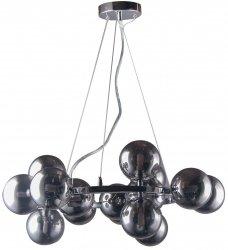 NOWOCZESNA LAMPA WISZĄCA KULE ITALUX MARBELIO PND-6161-15 CH+SM CHROM DESIGNERSKA LAMPA DO SALONU - JADALNI