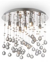 PLAFON KRYSZTAŁOWY IDEAL LUX  MOONLIGHT PL8 077796 CHROM LAMPA KRYSZTAŁOWA GLAMOUR