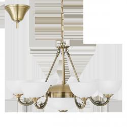 LAMPA WISZĄCA ŻYRANDOL SAVOY 82749 KLASYCZNY 6PŁ EGLO