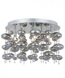 CHROMOWANY PLAFON SUFITOWY SZKLANE KULE ZUMA LINE ELLI RLX92175-6R NOWOCZESNA LAMPA SUFITOWA CHROM