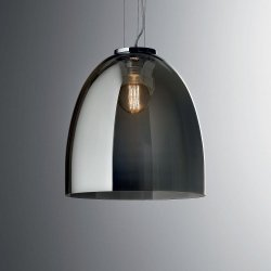 LAMPA WISZĄCA EVA SP1 SMALL IDEAL LUX 101101 SZKLANA