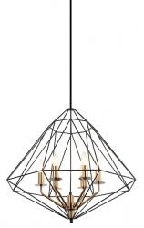 LAMPA WISZĄCA LOFT ITALUX MARESMO PEN-6369-6-BKBR CZARNA