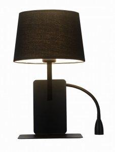 ABAŻUROWT KINKIET HOTELOWY DAKOTA LIGHT PRESTIGE LP-2121/1W R BK PRAWY