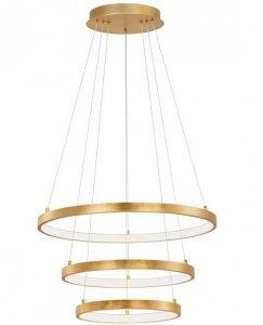 ZŁOTA LAMPA WISZĄCA RINGI LED NOWOCZESNA LAMPA DO SALONU ZŁOTE OKRĘGI
