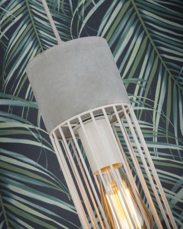 LAMPA WISZĄCA MEMPHIS/H/W BIAŁA DRUCIANA INDUSTRIALNA LOFT