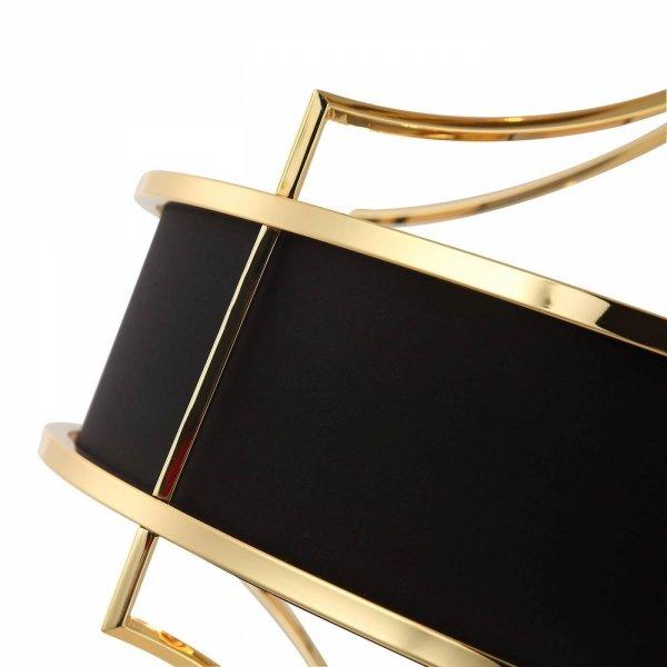 ZŁOTA LAMPA WISZĄCA Z CZARNYM ABAŻUREM GLAMOUR ORLICKI DESIGN STESSO GOLD NERO M LAMPA W NOWOJORSKIM STYLU