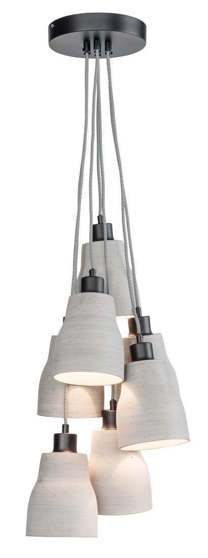 LAMPA WISZĄCA CADIZ/H7/LG BETONOWA SZARA