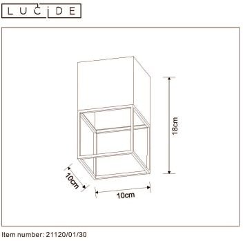 LOFTOWA LAMPA SUFITOWA SPOT LUCIDE RIXT 21120/01/30