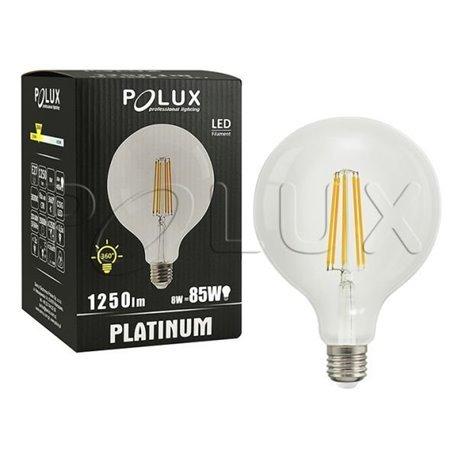ŻARÓWKA DEKORACYJNA LED G125 E27 1250lm, 8W, 3000K FILAMENT