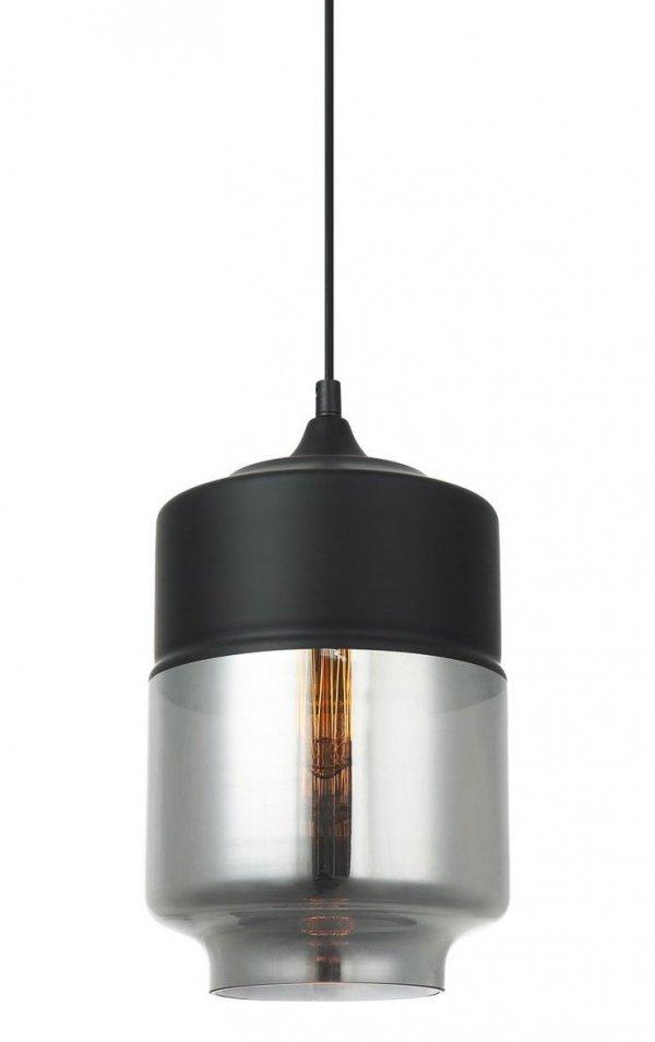 NOWOCZESNA LAMPA WISZĄCA ITALUX MOLINA MDM-2377/1 BK+SG CZARNA SZKLANA