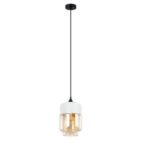 NOWOCZESNA LAMPA WISZĄCA ITALUX MOLINA MDM-2377/1 W+AMB BIAŁA SZKLANA