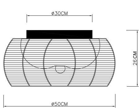 NOWOCZESNA LAMPA PLAFON CZARNY ZUMA LINE TANGO MX1104-2L