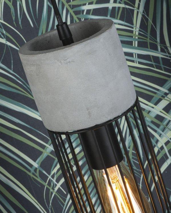 LAMPA WISZĄCA MEMPHIS/H/B CZARNA DRUCIANA INDUSTRIALNA LOFT