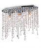 KRYSZTAŁOWA LAMPA SUFITOWA RAIN PL3 IDEAL LUX CHROM Z KRYSZTAŁKAMI GLAMOUR