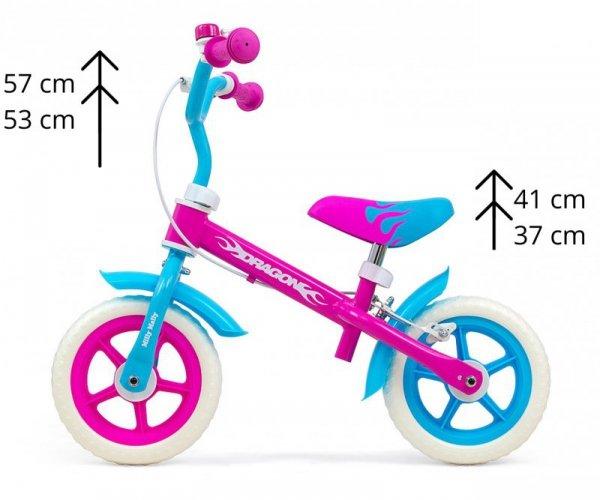 Rowerek biegowy Dragon z hamulcem Candy