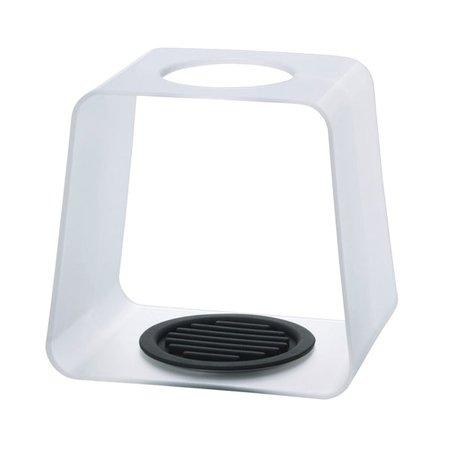 Hario Drip Stand Cube White - Stacja do zaparzacza Largo - Przezroczysta