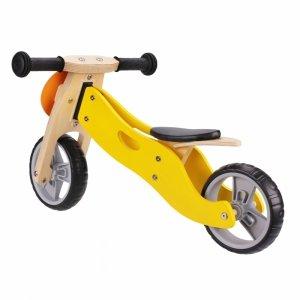 Drewniany rowerek rower trójkołowy 2w1 balansowy - LEW