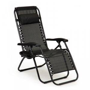 Leżak fotel ogrodowy plażowy zero gravity + stolik