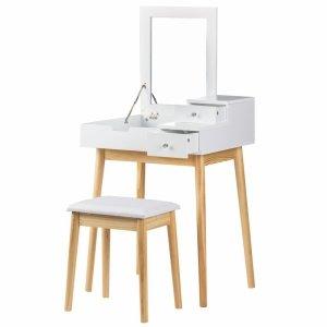 Toaletka kosmetyczna ze składanym lustrem