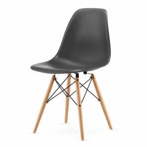 Zestaw czterech krzeseł do salonu jadalni Szare Goodhome