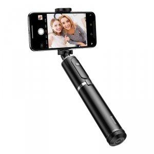 Selfie stick, statyw Bluetooth Baseus (czarno-srebrny)