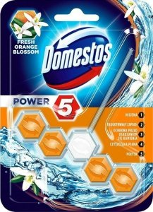 DOMESTOS Power 5 Kostka zapachowa do WC Orange 55g