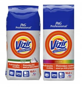Zestaw VIZIR Proszek do prania Regular 10,5kg  + VIZIR Proszek do prania Kolor 10,5kg