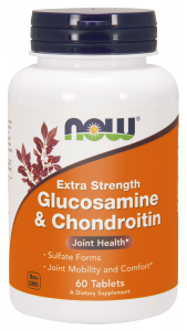 NOW Glucosamine & Chondroitin – 750 mg/600 mg – 60 tabletek