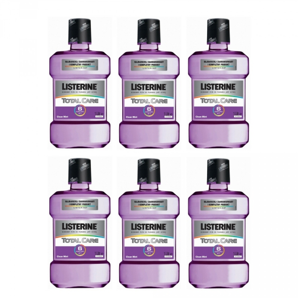 6 x Listerine płyn Total Care 6w1 1000 ml /1L/